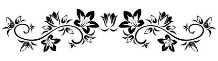 stylized design: Flowers vignette   Illustration
