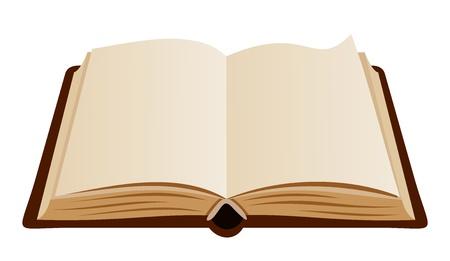 workbook: Open book  Vector illustration