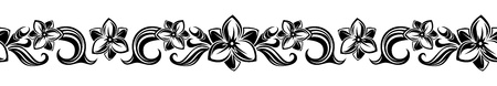 freesia: Horizontal seamless vignette with flowers.