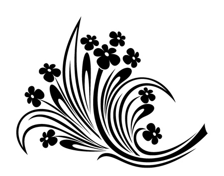 Flowers ornament.  illustration. Vector