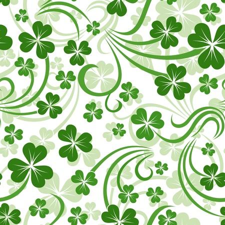 d�a s: Fondo St Patrick s day vector sin fisuras con el tr�bol