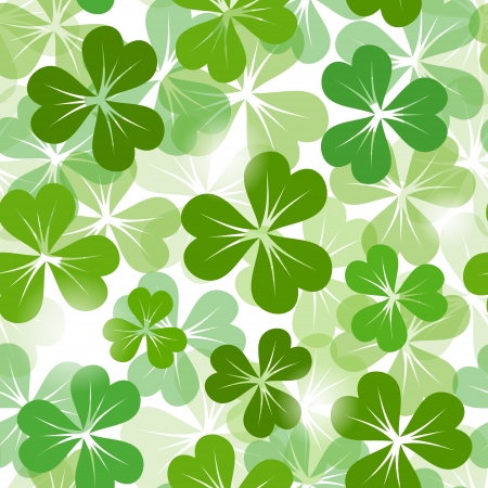 St  Patrick s day seamless background with shamrock  Vector EPS-10  Vector
