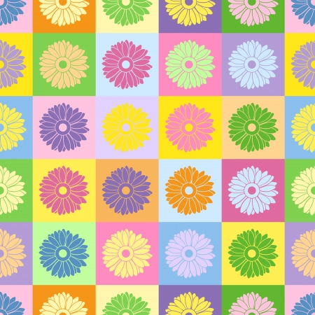 Seamless background with flowers.  illustration. Vector