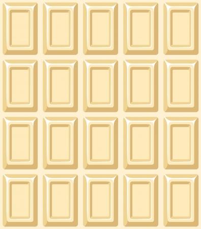 barra de chocolate: Textura transparente con barra de chocolate blanco. ilustraci�n.