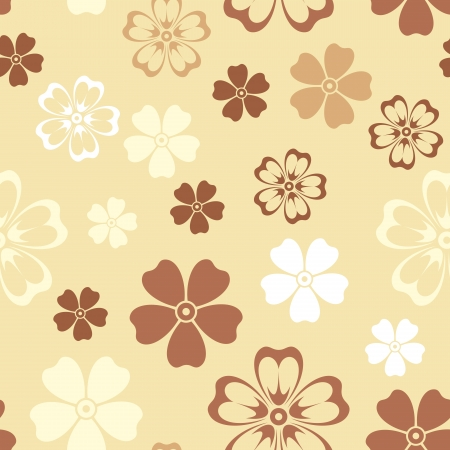 Seamless patterns with flowers.  Vector