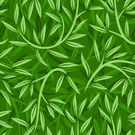 Seamless pattern with willow leaves. illustration. Vector