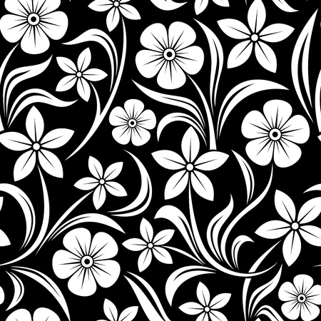 Seamless pattern with flowers. Vector illustration. Vector