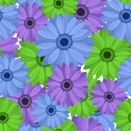 Seamless background with gerbera flowers  Stock Vector - 18648359