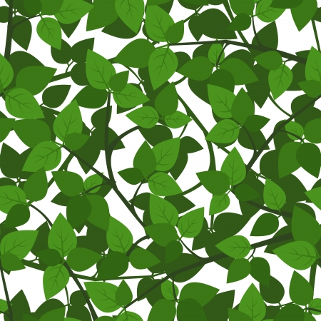 Seamless background with green leaves.  Stock Vector - 18757790