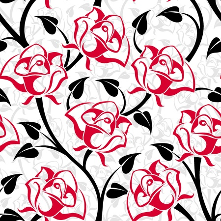 Seamless pattern with roses. Vector illustration. Stock Vector - 18843880
