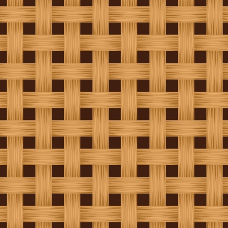 Wicker texture. Vector seamless background. Illustration
