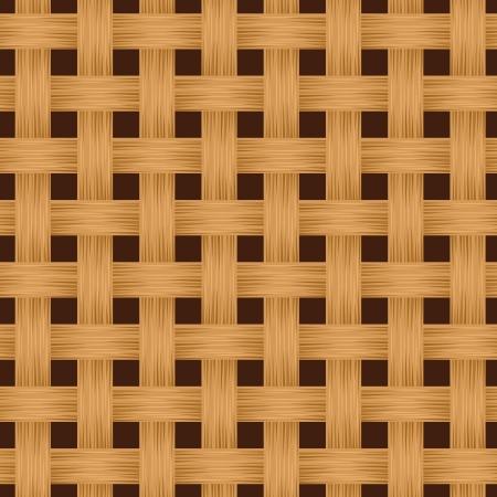 veneer: Wicker texture. Vector seamless background. Illustration