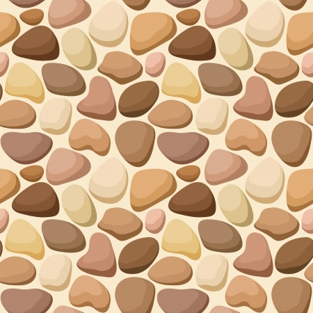 pebbles: Seamless texture with stones Illustration