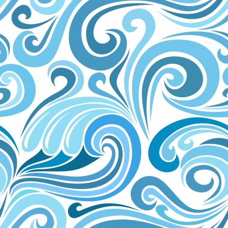 papel tapiz turquesa: Patrón abstracto sin fisuras con las olas del mar. ilustración.