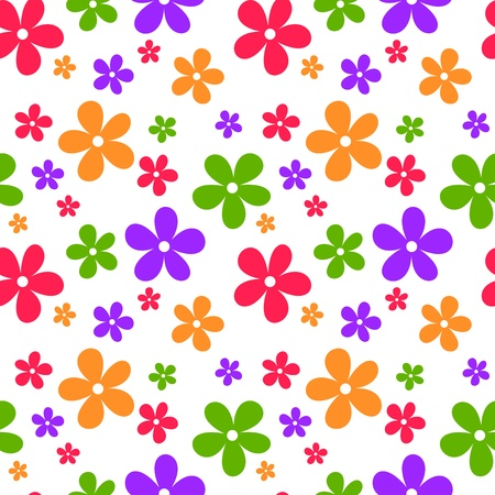 Seamless abstract pattern with flowers. Vector illustration. Stock Vector - 19047928
