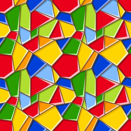 Stained glass. Vector seamless background. Vector