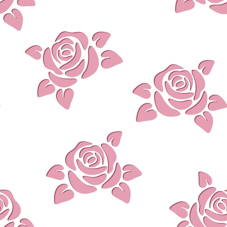 cut flowers: Seamless background with roses. Vector illustration.