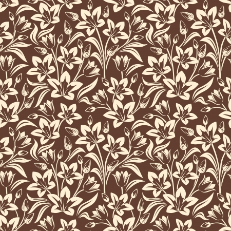 bluebells: Seamless floral pattern. Vector illustration.