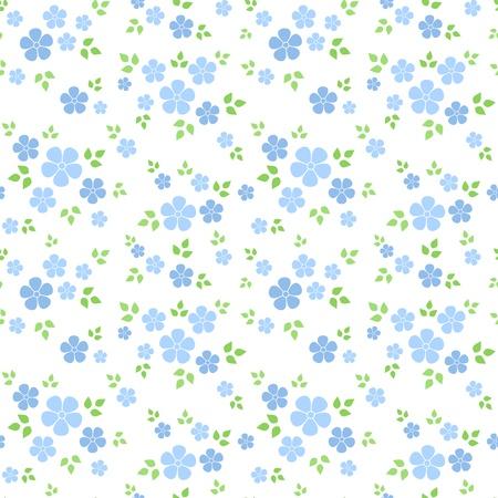 Patrón sin fisuras con pequeñas flores azules. Ilustración del vector. Ilustración de vector