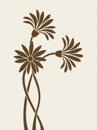 flower drawings: Flowers silhouettes. Vector illustration. Illustration