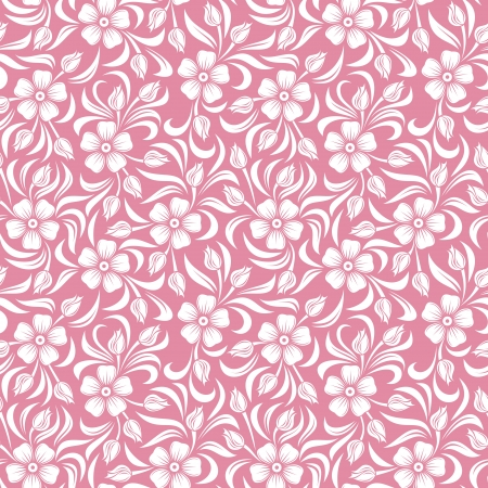 bedclothes: Seamless floral pattern.  illustration. Illustration