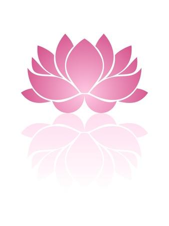 dessin fleur: Lotus rose. illustration.