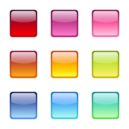 Set of colored web icons. Vector eps-10.  Vector