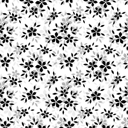 bedclothes: Seamless pattern with flowers. Vector illustration.