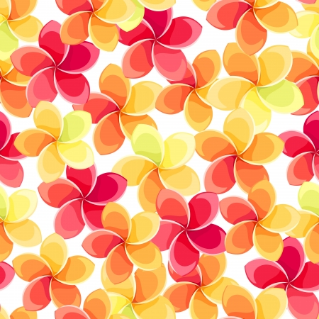Seamless background with colorful flowers. Vector illustration. Illustration