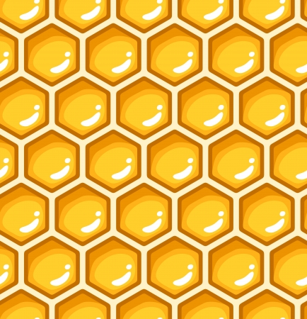 wax glossy: Seamless pattern with honeycombs.  illustration.