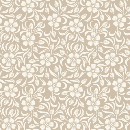 lacy: Seamless vintage floral pattern. illustration.