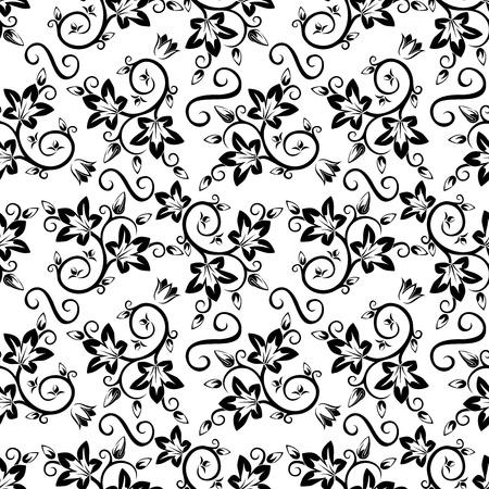 Seamless floral pattern illustration. Illustration