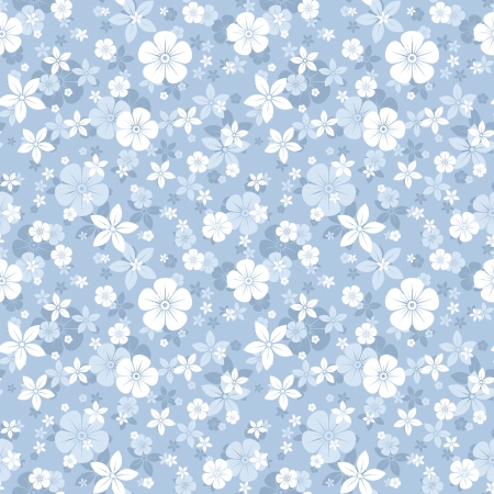 floret: Seamless pattern with flowers.