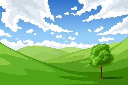 Summer landscape illustration  Stock Vector - 20332954