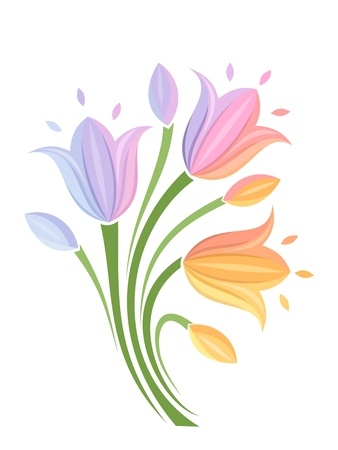 bluebells: Colorful flowers  Vector illustration
