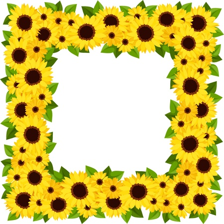 Sunflowers frame  Vector illustration  Stock Vector - 20960721