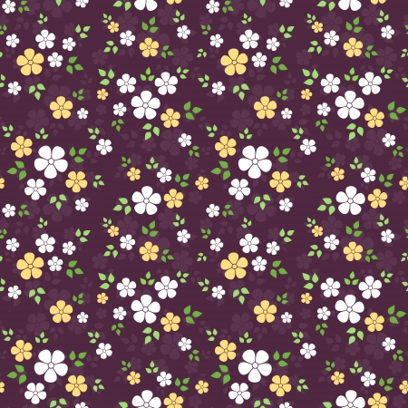 floret: Seamless pattern with small flowers  Vector illustration