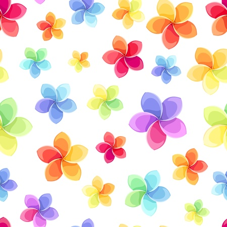 Seamless pattern with colorful flowers  Vector illustration  Stock Vector - 20961087