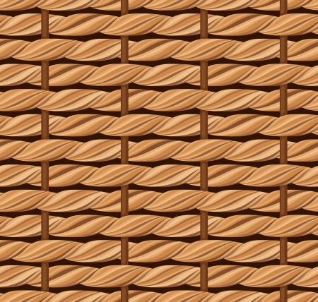 Wicker texture  Vector seamless background Stock Vector - 21068692
