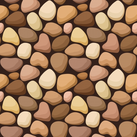 shingle: Seamless texture with stones  Vector illustration  Illustration