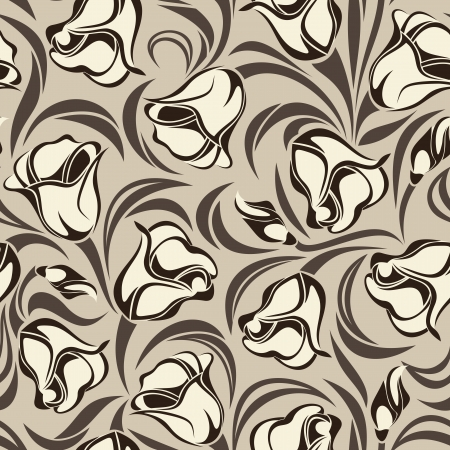 whorl: Floral seamless pattern illustration  Illustration
