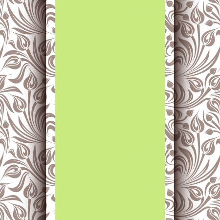 Card with floral pattern  Vector