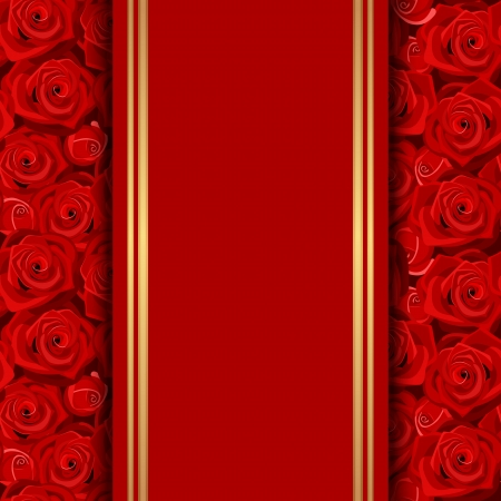 luxo: cartão com rosas vermelhas