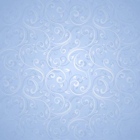Seamless blue floral pattern  Vector illustration  Иллюстрация