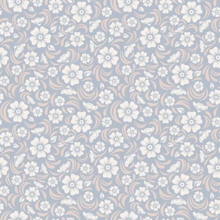Inconsútil de la vendimia patrón floral ilustración vectorial Foto de archivo - 22175437