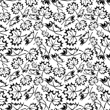 Seamless pattern with maple leaves  Vector illustration Stock Vector - 22175438