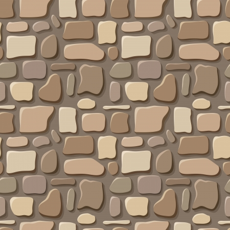 granite wall: Seamless texture of stone wall  Vector illustration  Illustration