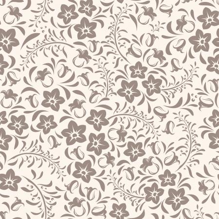 Naadloze vintage bloemmotief Vector illustratie