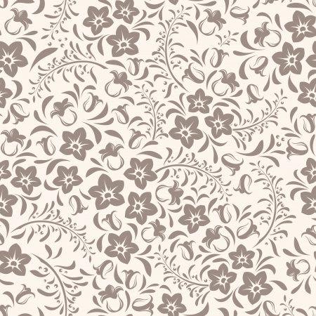 Seamless vintage floral pattern  Vector illustration  Vector