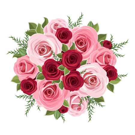 Ramo de rosas ilustración vectorial